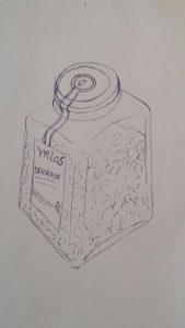 Drachen-Dip Zeichnung