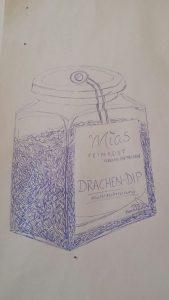Drachen-Dip Zeichnung 1